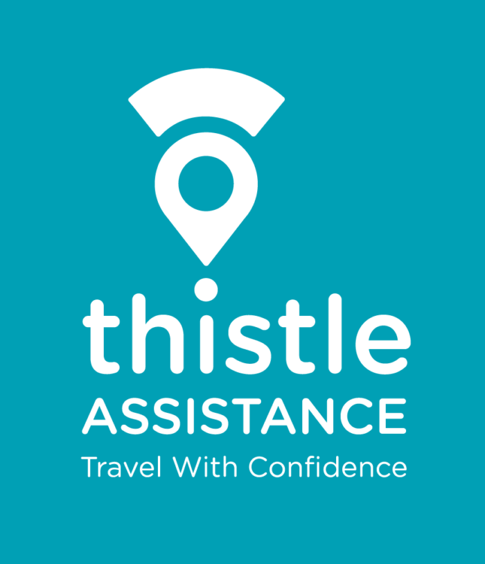 Thistle Assistance logo white